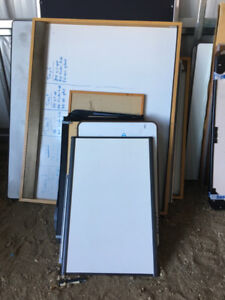 "Whiteboards - great for the ""Honey Do"" list - $2 to $15 each"