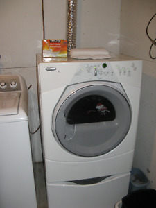 Dryer with pedestal