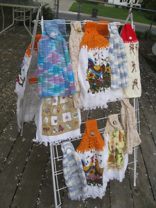 HAND KNITTED KITCHEN TOWELS