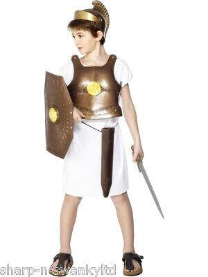 Römische Gladiator Kostüm Zubehör (Jungen Kinder Gladiator Griechisch Römisch ier Rüstung Kostüm Outfit Zubehör Set)