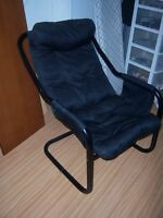Black Lounge Chair / Student chair for reading