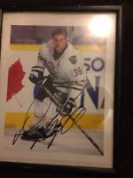 Hockey memorabilia perfect for offices or man caves