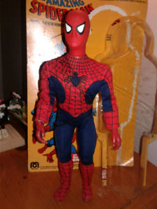 "Mego 12.5"" Spiderman with opened carded package(circa.1977)"