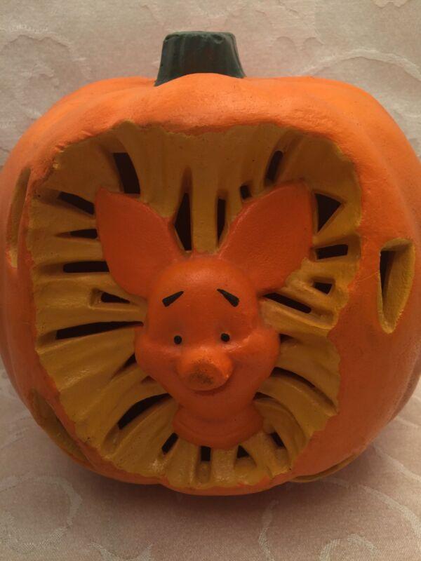 "Vintage Piglet Jack O Lantern Halloween Light Up Decoration Decor Disney Pooh 8"""