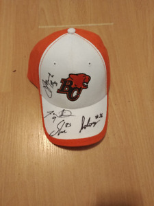 Brand New BC Lions Autographed Hat  Signed by 4