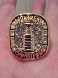 LARGE HEAVY MONTREAL CANADIANS STANLEY CUP CHAMPIONSHIP RING.