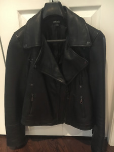 DKNY leather motorcycle jacket - ladies new condition
