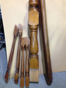 Church banister parts