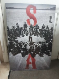 Cadre reproduction Sons of Anarchy Moto Harley Davidson