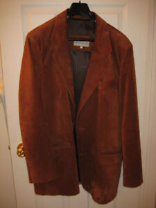 Rust-brown suede sport jacket (tall) - GREAT PRICE