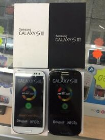 Samsung galaxy S3 new with box & accessories unlocked White & Black color