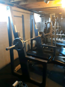 Bench and squat rack plus pull up bar  in one