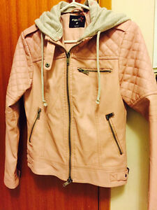Pink Pastel Leather Jacket NEW
