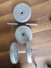 2 York Dumbbells 10kg each