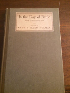 *1st Edition: In the Day of Battle: Poems of the Great War