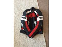 RST leather motorcycle jacket XL