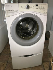 Whirlpool Duet Washer &  Dryer with (Removable) Bottom Shelves