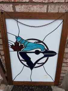 "Totonto maple leafs.. stain glass 18"" x 25"" Windsor Region Ontario image 2"