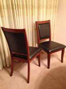 3 large leather chairs