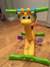 Vetch ride on giraffe