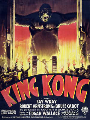 1933 KING KONG FRENCH VERSION VINTAGE MONSTER MOVIE POSTER PRINT 36x27
