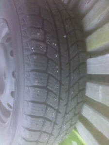 """Full set of 13"""" (four bolt) winter wheels and rubber for sale Peterborough Peterborough Area image 2"""