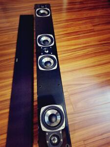 Three channels sound bar speaker for amplifier.