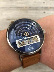 XERIC HALOGRAPH - LIMITED EDITION- NAVY/TAN AUTOMATIC WATCH