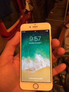 White/Gold Iphone 6 16 Gbs - Unlocked!