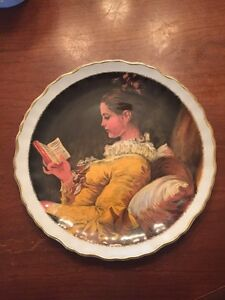 "Old Foley Collectors Plate, ""A Young Girl Reading"""