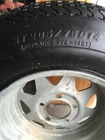 New Utility or boat trailer tire with rim