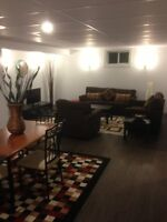 Newly Renovated Furnished 2 Bedroom Basement Suite Utilities inc