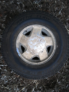 REDUCED: Winter pickup tires on Chevy rims