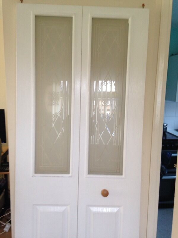 White Bifold Folding Internal Door In Luton