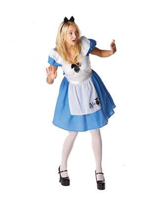 Adult Licensed Disney Alice in Wonderland Fancy Dress Costume Ladies Women BN (Disney Alice In Wonderland Costume)