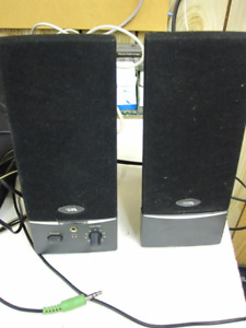 Used 2.0 Speaker System (One Does Not Work)