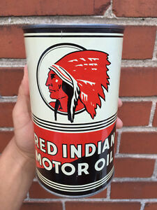 LOOKING to buy your Red Indian Oil Cans Or vintagge RED INDIAN