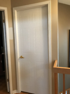 Interior doors with solid full gold handles
