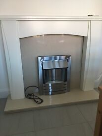 Brand new marble and wood electric fire place. BARGAIN!!!!!!