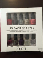 10 PACK OF STYLE OPI Nail Polish/Vernis à ongles