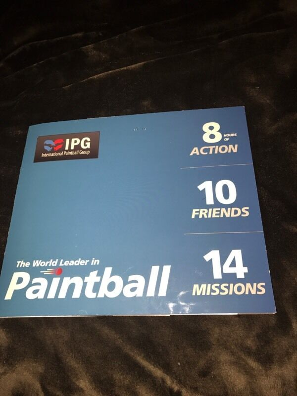 IPG paintball tickets x 20 & 1000 free paintballs per 10 tickets