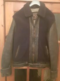 Marlboro Classics Sheepskin & Leather Flying Grizzly Jacket