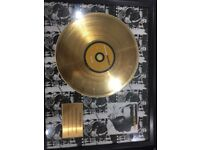 24 carrot gold plated discs in frame