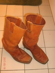 Wanted, Men's Used, Brown Biker Boots.