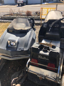 Selling a 1973 & 1974 panther arctic cat snowmobiles
