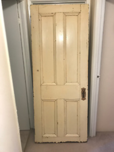 Three solid wood doors