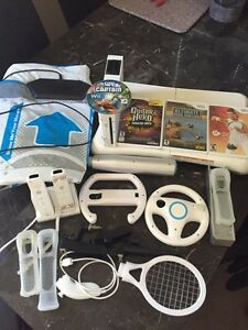 Wii with accessories and games