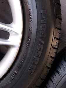 Used All-Season Tires (P185/65R15) on OEM Honda Alloy Rims Oakville / Halton Region Toronto (GTA) image 2