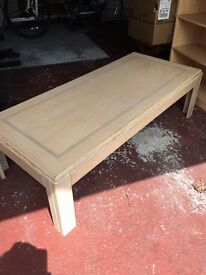 Light wood coffee table
