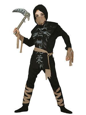 NINJA BOY IN BLACK CHILD JAPANESE FANCY DRESS - Black Ninja Boy Kostüm